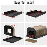 La caseta rascador para gatos medianos Pawaboo es fácil de instalar