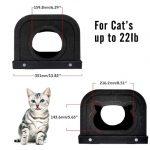 La caseta rascador para gatos medianos Pawaboo soporta peso menor de 10 kg