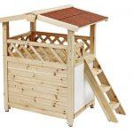 La caseta para gatos grandes Tyrol Alpin tiene la madera tratada