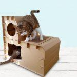 La caseta para gatos medianos de dos pisos Eco-friendly es un excelente rascador