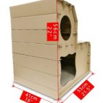 La caseta para gatos medianos de dos pisos Eco-friendly es de tamaño M