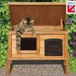 Con la caseta para gatos con ventana y autocalentamiento tu mascota se divertirá