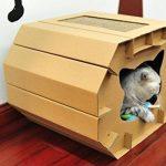La caseta para gatos medianos Eco-friendly está fabricada de cartón