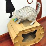Con la caseta para gatos medianos Eco-friendly, tu mascota se divertirá
