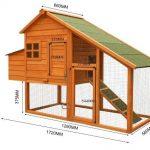 La caseta mediana WilTec para gallinas tiene un tamaño ideal para 2 animales