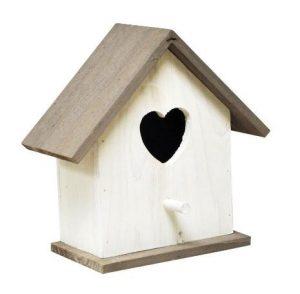 Caseta Kingfisher blanca para pájaros –…