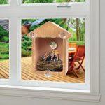 La caseta para pájaros pequeños Interhome tiene ventosas que se adhieren a la ventana