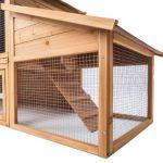 la rejilla de la caseta para conejos grandes TecTake mantiene a los depredadores lejos del alcance de la mascota