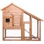 La caseta para conejos grandes con jaula Dibea está diseñada para conejos grandes