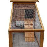 La caseta para gallinas grande FellGoodUK tiene una zona libre