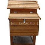 La caseta para gallinas grande FellGoodUK incluye un nido