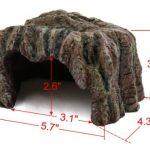 La cueva de resina para tortugas tiene las medidas perfectas para tortugas pequeñas